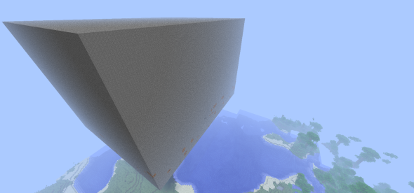25,000,000 blocks (most clipped beyond the horizon)